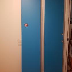 Kastdeuren Ikea Komplement - blauw (2x)