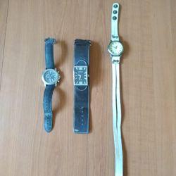 6 leuke oude (dames) horloges o.a. Esprit