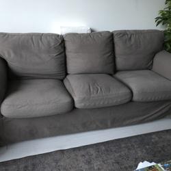 Ikea,Ektorp 3 zits, bruine bank