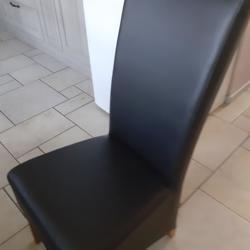4 leren eetkamer stoelen