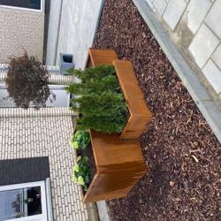 Corten staal bloembakken / plantenbakken