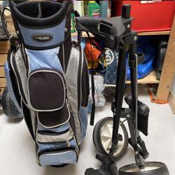 Golftas en trolley loopt nog goed.