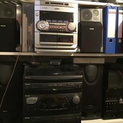 Audio spelers met cd speler met picup