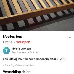 IKEA twijfelaar 1.40m breed met latten