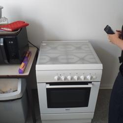 Bosch gas-oven met kookplaat