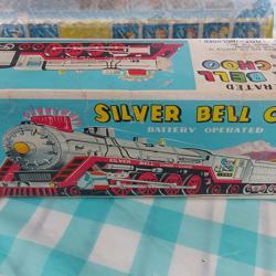 Blikken trein Silver Bell Choo Choo van Kanto Toys uit Japan