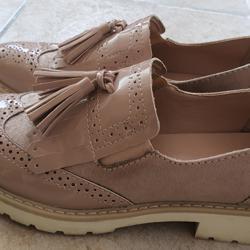 Roze Oxford schoenen