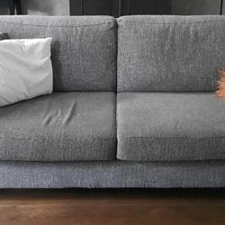 Bank 2,5 zits en love seat (1,5 zits) kleur grijs