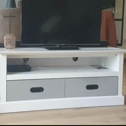 Tv meubel hout met laatjes