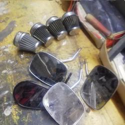 retro spiegels   voor motor ..