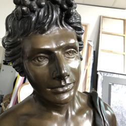 Levens grote bronze Adam plus minus 180cm