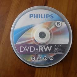 10x DVD-RW in doos