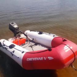 Rubberboot met buitenboord motor