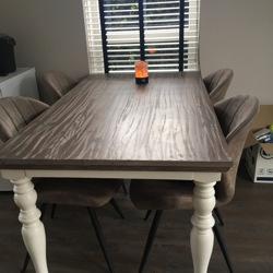 Eettafel wit grijs voor 4 personen