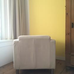 Fauteuil / Loungestoel woonkamer / Wit