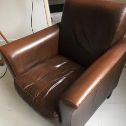 Leren fauteuiltje