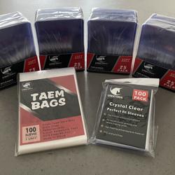 Set: 100 Toploaders, sleeves & Team Bags