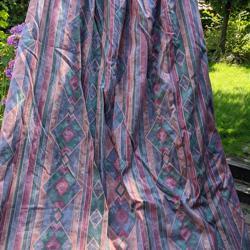 Overgordijnen paars/roze/groen kamerhoog en kamerbreed