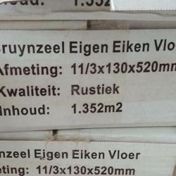 Eik 13x52 visgraat multiplank ~4m2 restpartij