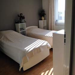 lits jumeaux bed + lattenbodem + matrassen