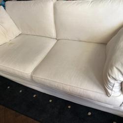Grote, witte, luie hangbank van Maupertuus/ Vos