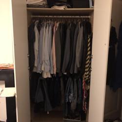 Twee pax garderobe kasten