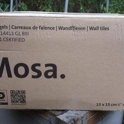 Mosa wandtegels wit, 15 x 15 cm, nieuw in doos SUPERGOEDKOOP