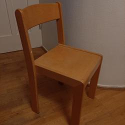 6 beukenhout stoelen GRATIS
