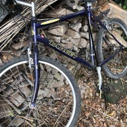 Mountainbike, oud en verroest