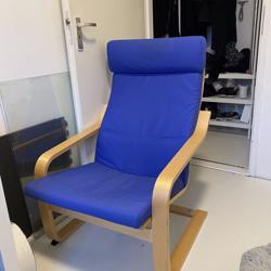 Blauwe poang ikea stoel