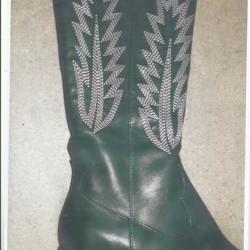 groene cowboy laarzen