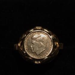 14 karaat gouden jfk ring