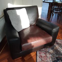 Heerlijke luie lederen fauteuil