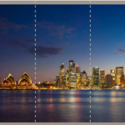 Fotobehang Sydney panaroma  Skyline nacht