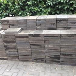 260Naturo betonstenene Zwart 20x30x5 cm+ antraciet betonband