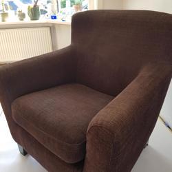 Comfortable bruine stoel