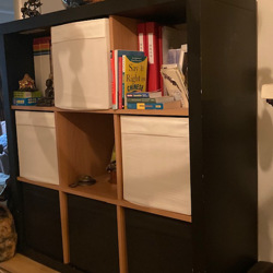 Open Ikea boekenkast 3 x 3