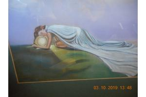 schilderij van liggende vrouw