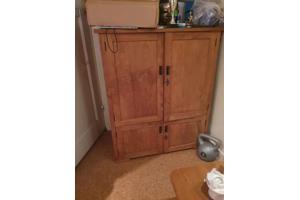 teak houten tv kast