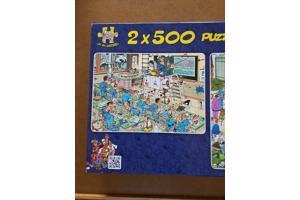 Jumbo puzzel van Jan van Haasteren- 2 X 500 stukjes