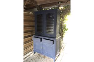 Vintage geverfde kast navy blue annie sloan