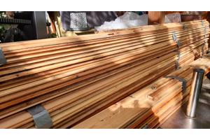 Houten vloer planken grenen 14 m2