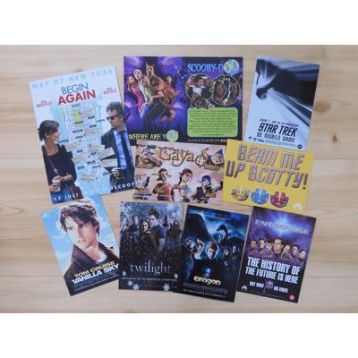 Oude ansichtkaarten van films en series