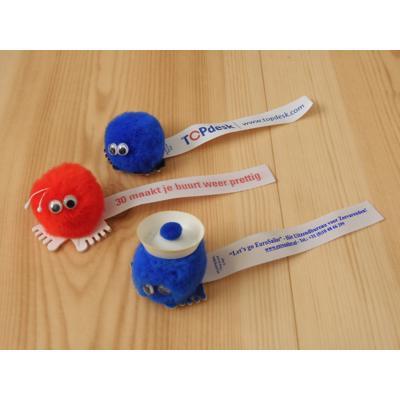 Kleine wuppies met label