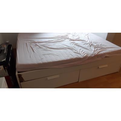 BRIMNES IKEA 2 persoonsbed met 4 lades