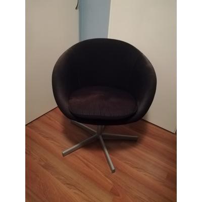 Ikea stoel zwart stof