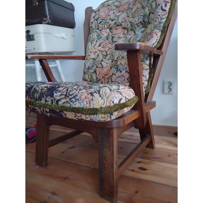 Fauteuil/ oma stoel met bloemenprint
