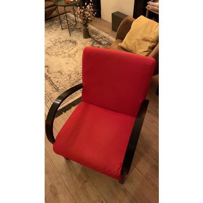 IKEA stoelen (2 stuks) rood zwart - goede staat