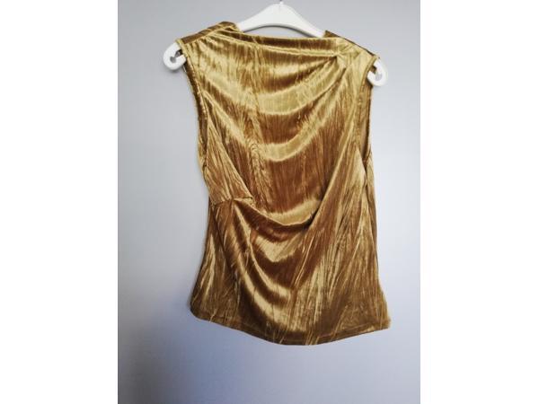 fluwelen gouden top met overslag L