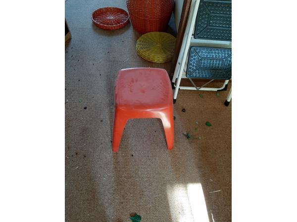Oranje Plastic krukje